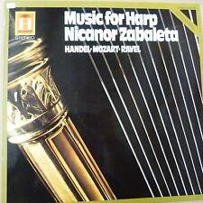 LP MUSIC FOR HARP Nicarnor Zabaleta Handel Mozart Ravel , Helidor 2548281