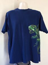 Vtg 1991 Iguana T-Shirt Blue Xl 90s Hanes Reptile Lizard Animal Wildlife