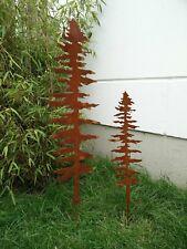 2st .Edelrost Gartenbaum Rost Gartenstecker Baum Beetstecker rost 100 und 70cm