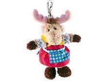 Rudolph Schaffer Vroni Elk Keyring - SC201, Brown, Green & Red , Metal & Plush
