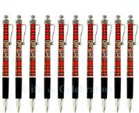 Scotland Tartan Pen Wavy Clip Ballpoint Pen set of 3, 5, 7,10,15 and 20 Souvenir