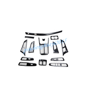 14PCS ABS Wood Grain Style Car Interior Kit Cover Trim For Kia K4 DLX 2014-2017