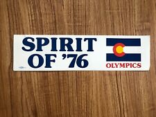 Rare Original Vintage Spirit of '76 Olympics Colorado Bumper Sticker