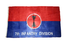 3x5 Army 7th Infantry Division Knitted Poly Flag 3'x5' Grommets Fade Resistant