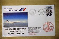 1ER  VOL CONCORDE  PARIS-DUBLIN DU 01 octobre1983 avec certificat de vol
