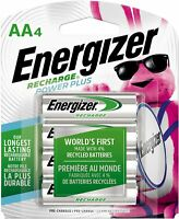 ENERGIZER AA RECHARGEABLE BATTERIES NiMH (4 Count) DOUBLE A BATTERY RECHARGE