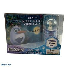 Disney Frozen Olaf'S Night Before Christmas Book And Glitter Globe New