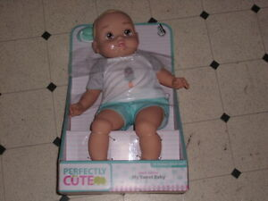 """Perfectly Cute My Sweet Baby Brown Baby BOY Doll 14""""H New"""