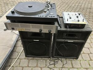 Disco PA outfit - Speakers Amp Mixer & Deck
