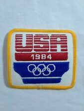 USA 1984 Summer Olympics Los Angeles California Square Patch Olympic Rings