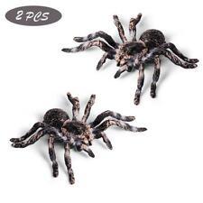 Araña de plástico realista 2 un. de 9.5cm de gran falso insecto Juguete Divertido Accesorios de Halloween
