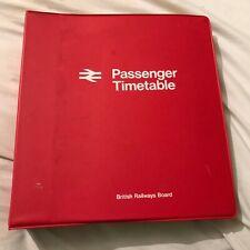 More details for vintage british railways board passenger timetable folder