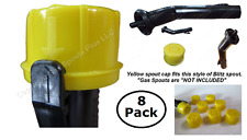 8-Pack BLITZ Rotopax Kolpin YELLOW CAPS fits self-venting gas can spout SEE PICS