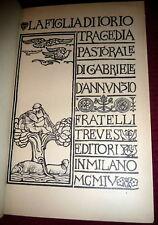 D'ANNUNZIO, La Figlia di Iorio. 1904 1stEd. Adolfo De Carolis Art Nouveau Plates