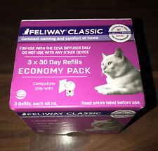 New boxed Feliway Classic 48 ml Diffuser Refill, 3 Pack Exp. 5/27/24