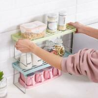 Multifunctional Portable Home Kitchen Spice Shelf Organiser Shelf Storage G5P7