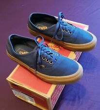 VANS AUTHENTIC ERA OLD SKOOL NAVY/ BROWN SIZE 6.5! VISIT OUR EBAY STORE!
