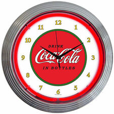 COCA COLA  CLASSIC Neon Clock Wall Art - Coke Lamp Decor Sign