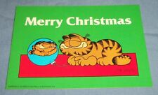 Vtg Argus Jim Davis Garfield Cat Christmas Post Card Glass Ornament Ball