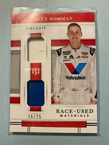 A23,288 - 2020 National Treasures Dual Race Used Firesuits #14 Alex Bowman/25