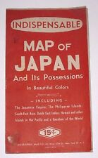 Vintage 1940s Indispensable Map of Japan And Its Possessions in Beautiful Colors