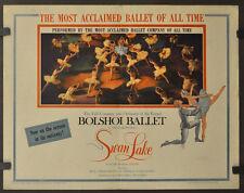 SWAN LAKE 1957 ORIG 22X28 MOVIE POSTER BOLSHOI BALLET MAYA PLISETSKAY