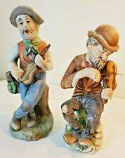 Set of 2 Guitarist and Violinist Figurines Musicians Players People Home Decor