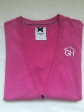 Gilly Hicks Long Logo Cardigan in 'Pink' (L) (RRP £58) Rare 57% Disc