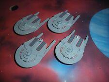 Star Trek Micro Machines Lot USS Saratoga X4 Space Star Ship Fleet TNG TOS DS9