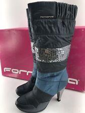 Fornarina Stiefel 36 High Heels Boots Winter blau mit Paletten