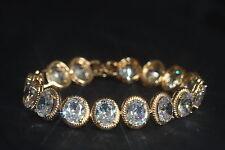 7 x 9mm Oval Created Diamond Bracelet 16-19.5cm / Adjustable