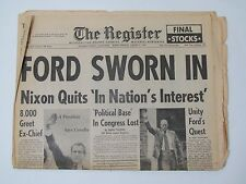 The Register August 9 1974 Newspaper Orange County Ca FORD SWORN IN NIXON QUITS