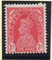 India 1937 Early Issue Fine Mint Hinged 1a. 050729