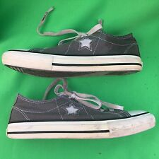 CONVERSE ONE STAR junior's  gray walking canvas shoes size-3