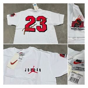 90s VTG NIKE AIR JORDAN Restaurant Jersey T Shirt Youth M Boys Michael Bulls
