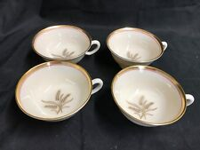 """Lenox """"WESTFIELD"""" R-440 w/ 24 Kt Gold Trim ~ Set of 4 ~ Cups ONLY ~ 2"""" Tall"""