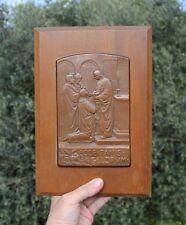 France, Ist Holy Communion, 1893, bronze, wood panel, France, Bouasse-Lebel