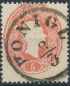 ÖSTERREICH 1861 5kr, PONIGL (St) Mü:60P! Schön!