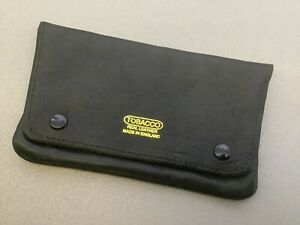 Quality Soft Leather Pipe Smokers Foldover Pipe Tobacco Pouch ~ unused.