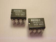 ( 2 PC. ) BURR-BROWN OPA251PA OPAMP, 8 PIN DIP, NEW