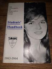 More details for vintage university of newcastle student handbook 1963 -64