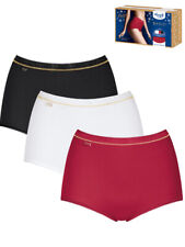 *3 Pack* Sloggi Basic+ Maxi Briefs 10194232 Super Soft 95% Cotton Knickers