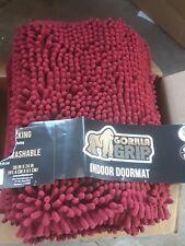 """Gorilla Grip Indoor Doormat 36x24"""" Red"""