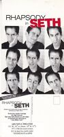 RHAPSODY IN SETH BY SETH RUDETSKY COMEDY UNUSED ADVERTISING COLOUR POSTCARD