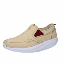 women's shoes MBT 6 / 6,5 (EU 37) slip on loafers beige textile leather AC442-B