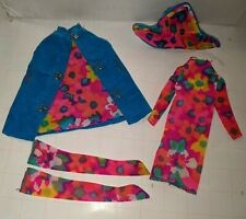 New ListingVtg 1965 Francie Style Setters Outfit #1268 Blue Velvet Hot Pink Floral Outfit