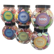 Personalised Decade Mixed Retro Sweets Gift Cookie Jar 1930's to 2000's Years