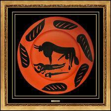 Pablo Picasso Madoura Ceramic Plate Original Bullfighting Tauromachy Artwork SBO