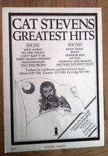 CAT STEVENS Greatest Hits 1975 magazine ADVERT/Poster/Clipping 11x8 inches