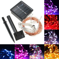 10M 100 LED Solar Powered Starry String Fairy Light Copper Wire Ambiance Light
